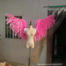 Cute angel feather wings for Lady beautiful Birthday gifts Natural feather series Pure Handmade single wings 80-85cm
