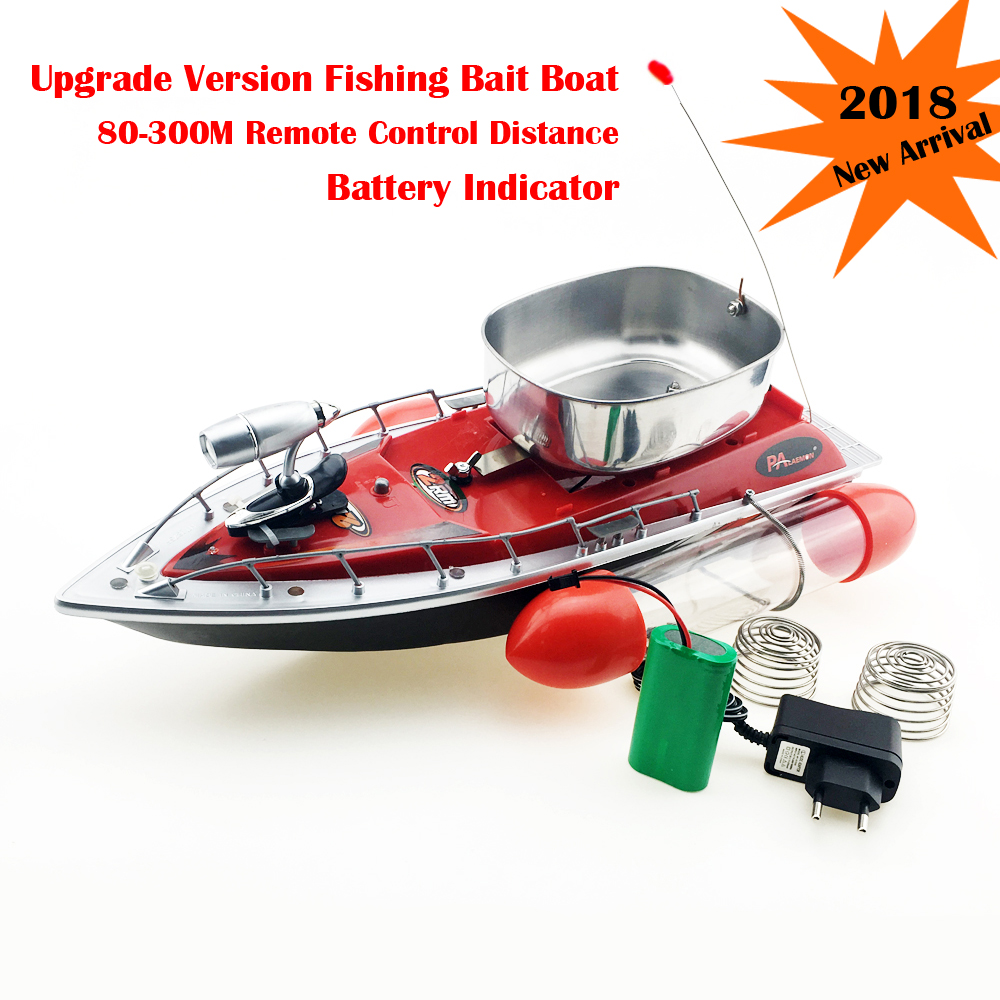 New Fishing Bait Boat 80-300m Remote Control Fishing Feeder Lure Carrier Thrower Max Speed 40km/h Blue Red Green mini fast electric fishing bait boat 300m remote control 500g lure fish finder feeder boat usb rechargeable 8hours 9600mah