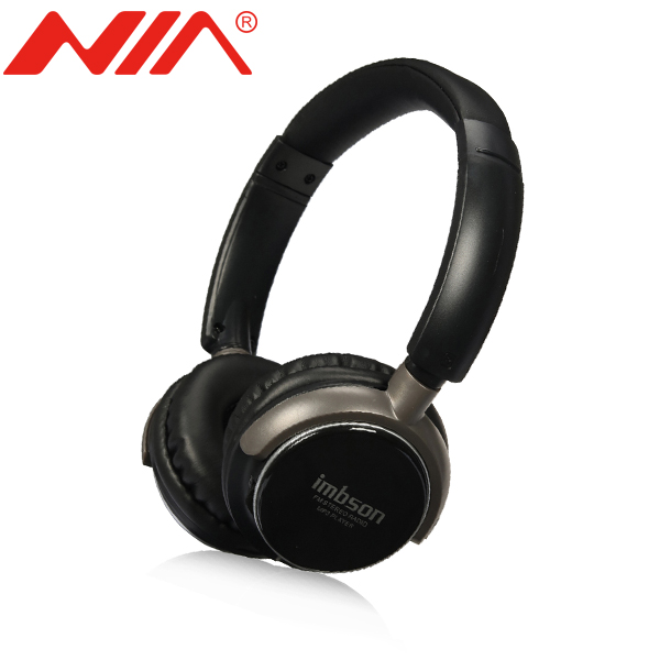 Wireless Stereo Headsets Original NIA 8001 Free Shipping Foldable Sport Headphones with Mic TF Card FM Radio Earphone economic set original nia q1 8 gb micro sd card a set bluetooth headphone wireless sport headsets foldable bluetooth earphone