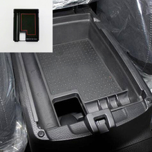 For Nissan X-Trail T32 2014 2015 2016 2017 ABS Plastic Car Armrest Storage box Grid accessories Cover Trim Car Styling 1Pcs