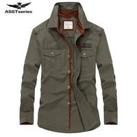 Hot sale AFS Jeep Men Long Sleeve Shirt Cotton Fall Business Breakout Casual Long Sleeve Shirt Free Shirt plus size S 4XL Z78