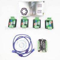 top gradeCNC mach3 USB 4 Axis Kit, 4pcs TB6600 stepper driver+ mach3 USB stepper motor controller board +power supply