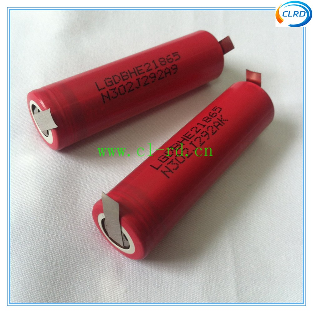 5pcs lot lghe2 2500MAH 20A continuous discharge rate 18650 battery cells for electric drill use