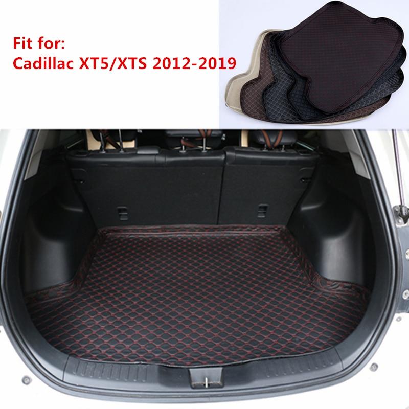 5 Colors New Car Rear Trunk Mat For Cadillac XT5 XTS 2012 2013 2014 2015-2019 Cargo Tray Boot Liner Carpet