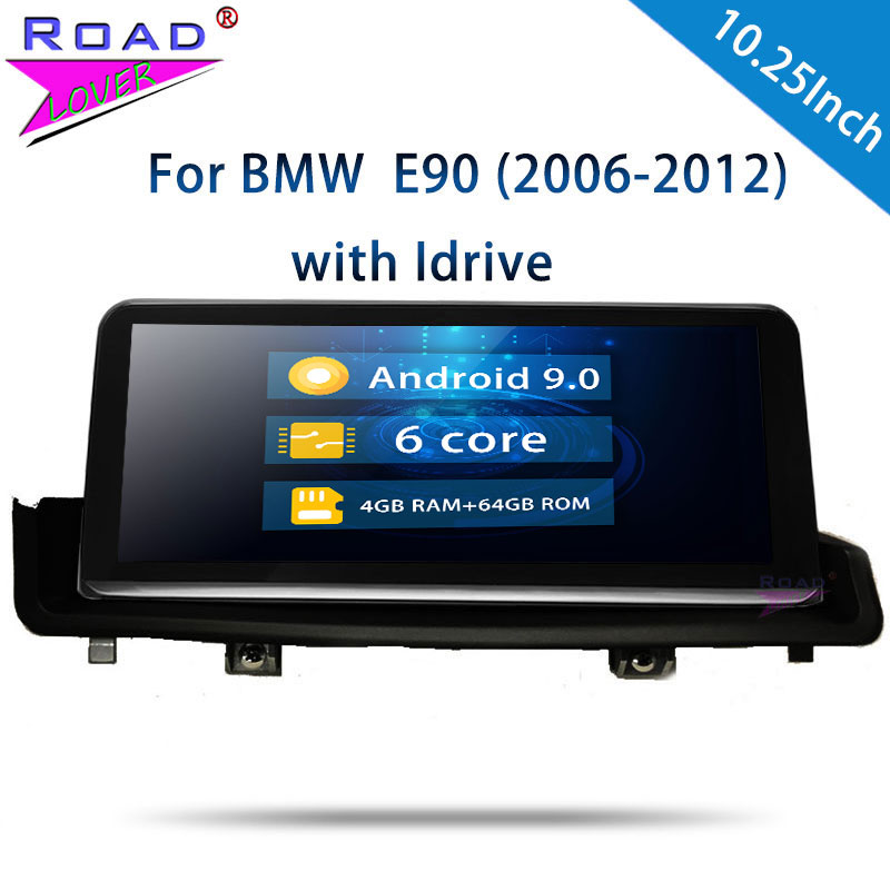 Roadlover <font><b>Android</b></font> 8.1 Car Automagnitol Radio For <font><b>BMW</b></font> <font><b>E90</b></font> (2006 2007 2008 2009 2010 2011 2012) GPS Navigation Stereo 2Din NO DVD image