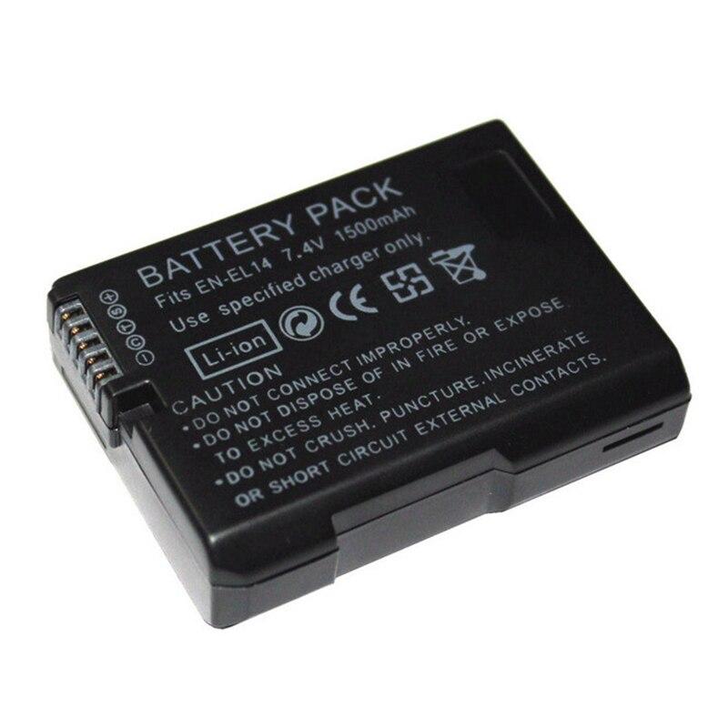 EN-EL14 de la batería de litio de 1500 mAh 7,4 V Digital recargable batería de la cámara para Nikon D5300 D5200 D5100 D3200 D3100 D3300 P7000