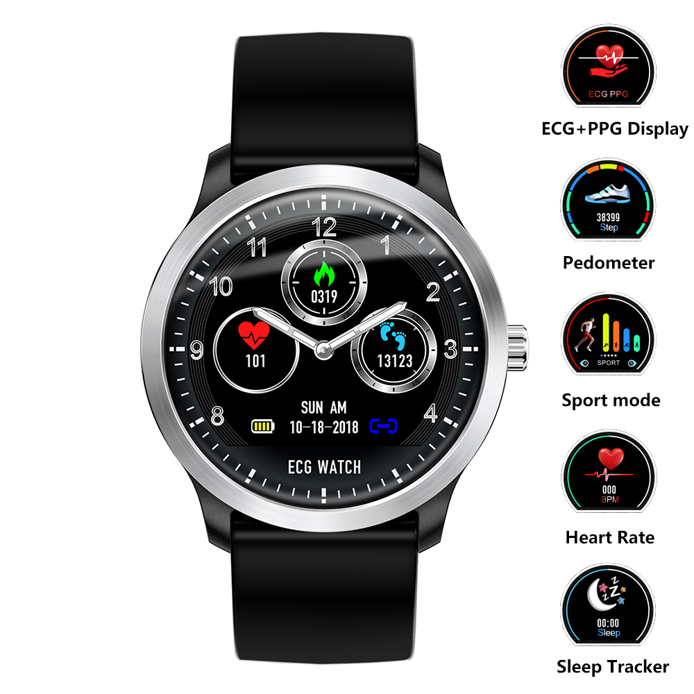 Smart Wristband Watch ECG+PPG Fitness Tracker Smartwatch Heart Rate Monitor Blood Pressure Bracelet for IOS Android Phone Watch