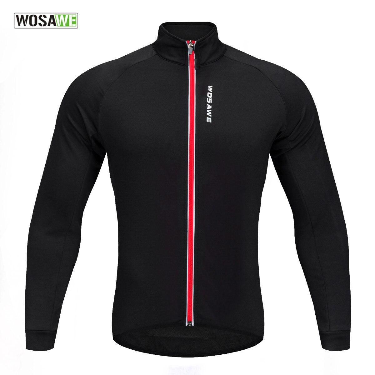 WOSAWE Soft Thermal Fleece Cycling Jersey Long Sleeve MTB Bike Bicycle Shirt Road Bike Autumn Winter Cycle Clothing цена