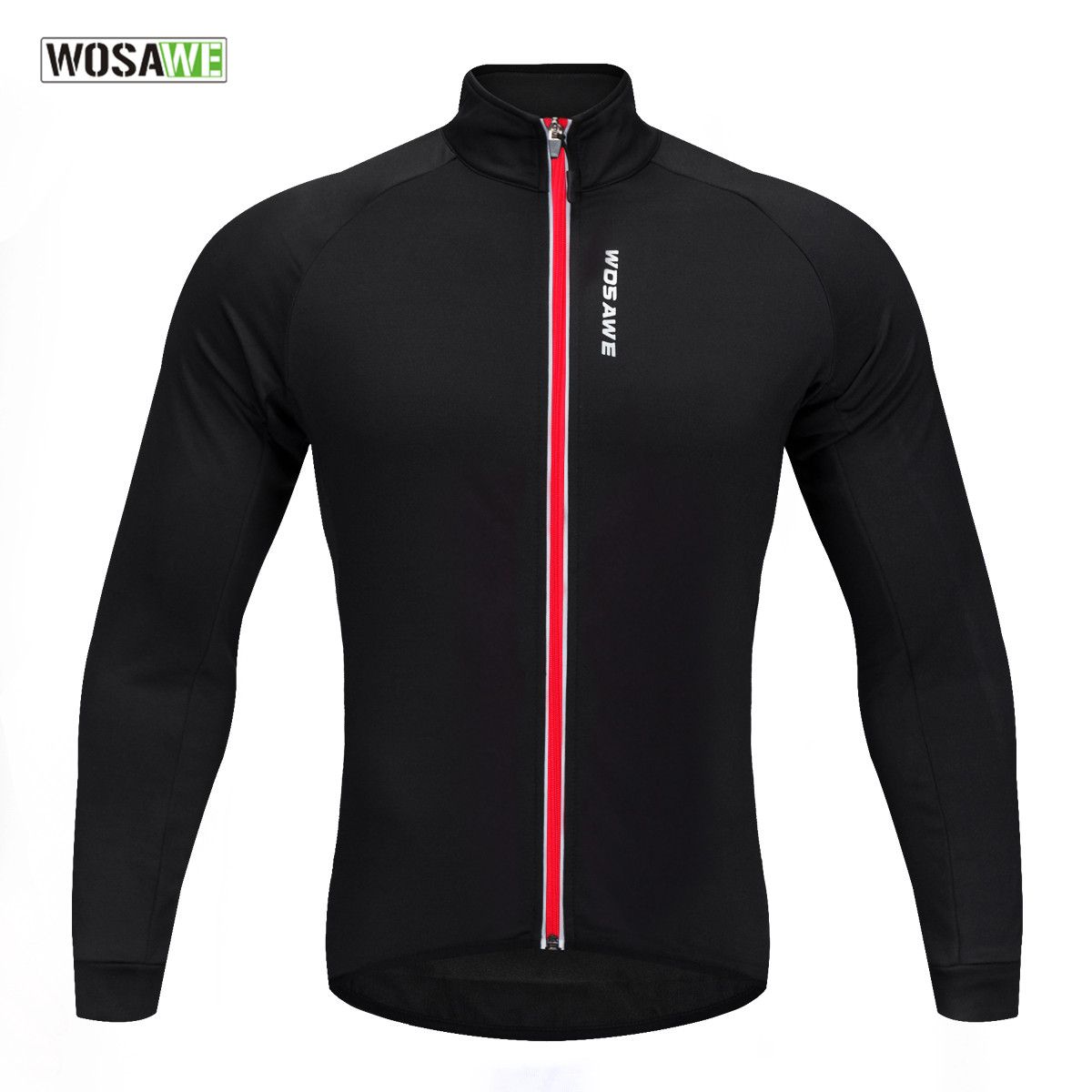 WOSAWE Soft Thermal Fleece Cycling Jersey Long Sleeve MTB Bike Bicycle Shirt Road Cycling Autumn Winter Sports Wear