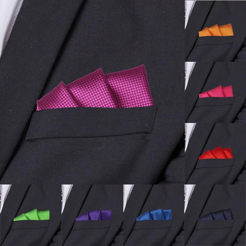 Fashion Suits Pocket Square For Men Business Chest Towel Hanky Gentlemen Plaid Hankies Classic Suit Napkin Mens Handkerchief