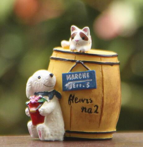 Hot style chien vin seau cat moss moussu la viande de multiples frais fleur insérer prop tir prop dans Figurines et Miniatures de Maison & Jardin