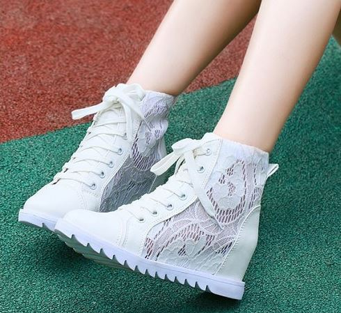 New arrive women summer sandals breathable lace wedge sneakers white  platform walking shoes free shipping-in Men s Casual Shoes from Shoes on  Aliexpress.com ... 0a755fa3a69d