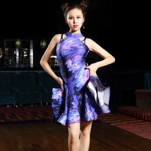 purple cha cha dance dress women latin dress modern dance costume tango dress latin salsa dress samba costume dance wear