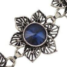 Summer Rhinestone Inlay Waist Chains Carved Flower Belly Belt