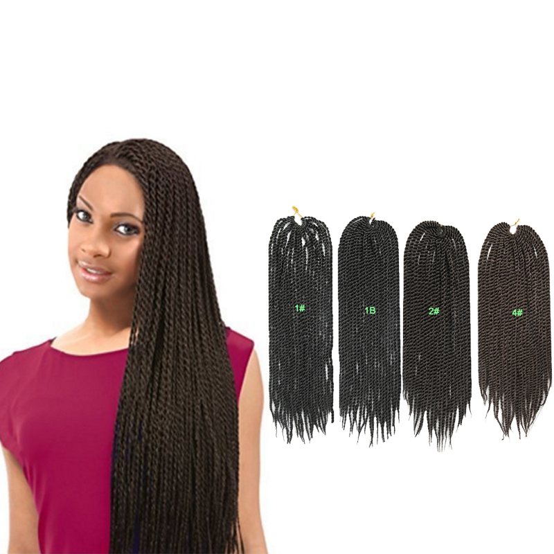 Free Shipping 18'' Synthetic Twist Crochet Braiding Hair Small Curly Afro Braids Hair Extension