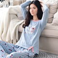 100% Algodón ropa de dormir de Algodón pijamas ropa de dormir de Algodón Pijama Pijamas Pijamas de Las Mujeres 464