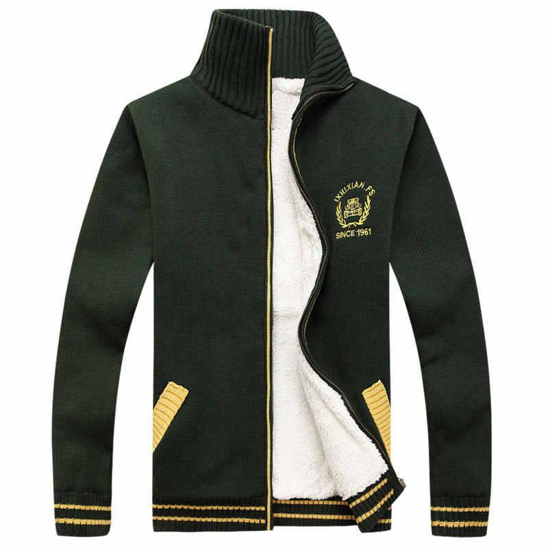 AFS джип бренд осень зима толстый флис мужские свитера хлопок шерсть трикотаж кардиган Masculino свитер hombre плюс размер 3XL