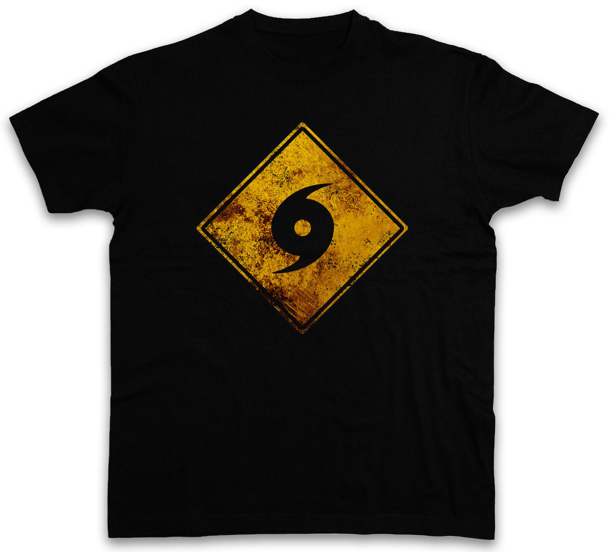 Cool Design Free Shipping Mens Summer O-Neck tees HURRICANE WARNING SIGN T-SHIRT size S-3XL
