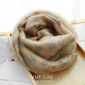 Image 5 - 2020 Dot Silk Wool Scarf Women Scarves Fashion Print Shawls And Wraps Lady Hijabs Foulard Bandana Female Pashmina Beach Stoles