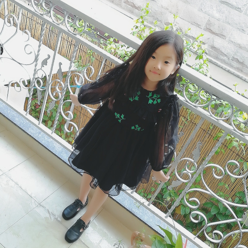 Girls Dresses Long Sleeve 2017 brand autumn Kids Dress for Girls Clothes Robe Enfant leaf ladybird Princess Costumes Children girls dresses long sleeve 2017 spring brand kids dress for girls clothes baby infant animal flower princess costumes children