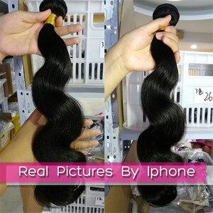 Image 5 - FABC Haar brazillian haar bundles körper welle 4 bundles menschliches haar weben natürliche farbe nicht Remy Haar Extensions