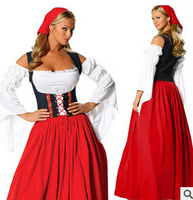 Free Shipping ZY560 Beer Maid Wench German Oktoberfest Dress Costume