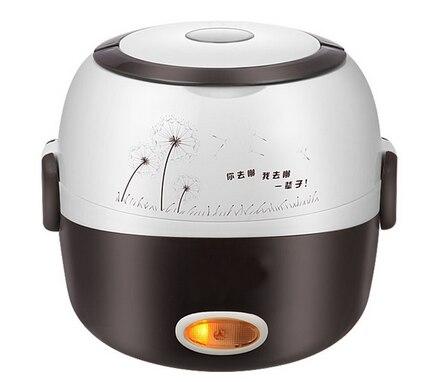 موقد صغير لطهي الأرز العزل التدفئة صندوق غداء كهربي 2 طبقات المحمولة باخرة أوتوماتيكي متعدد الوظائف الغذاء الحاويات الاتحاد الأوروبي