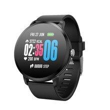 Купить с кэшбэком V11 Fitness Smart Watch Heart Rate Blood Pressure Weather Forecast Men Women Activity Tracker Smart Bracelet for Android IOS