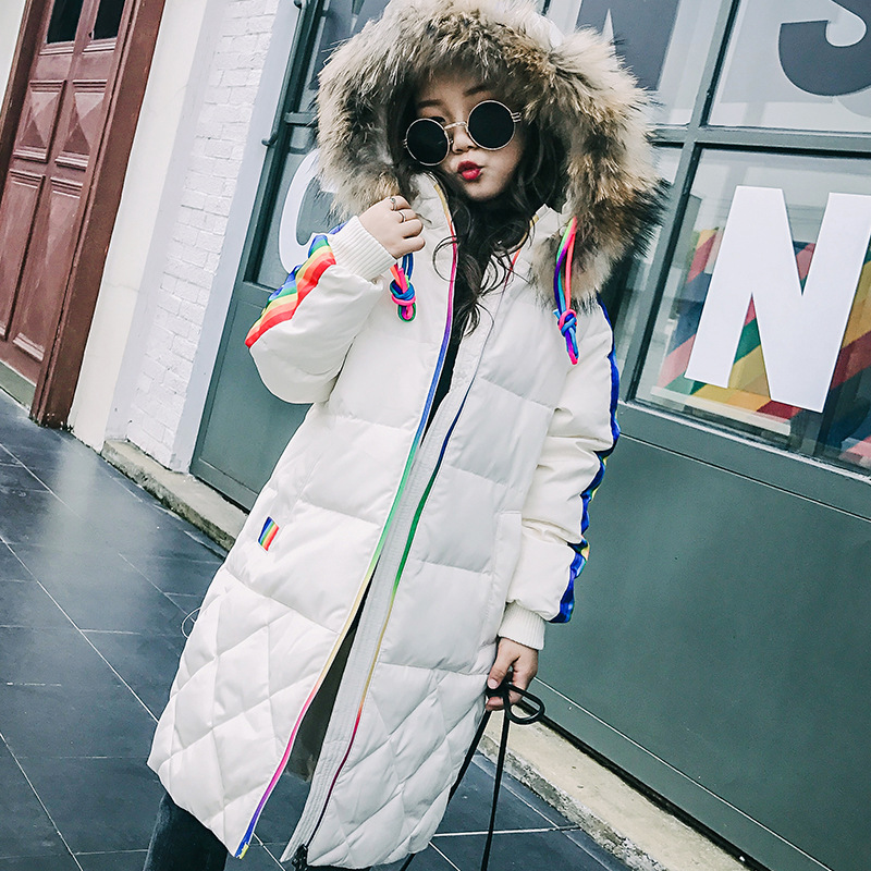 2017 New Fashion RU Winter Jacket for Girls Children Clothing Fur Collar Snow Wear Parka Thick Cotton-Padded hooded Winter Coats