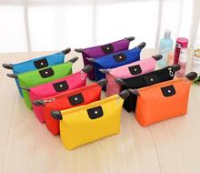 500pcs/lot cosmetic bag Multi-colors storage bag Fashion Lady Travel Cosmetic Pouch Bags Clutch Storage Makeup organizer Bag