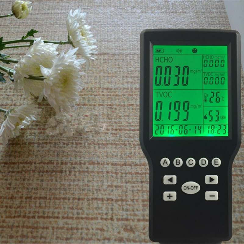 Free shipping TVOC indoor air quality monitor HCHO detector from OHMEKA