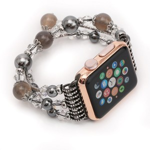 Image 5 - Womens Agate Stretch Bracelet for Apple Watch Band for iWatch Seies 1/2/3/4/5 44mm 42mm 40mm 38mm Wrist Strap Watch Band Belt