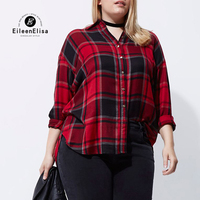 Eileen Elisa Long Oversized Blouses Shirts 2017 Autumn Casual Plus Size Long Sleeve Maxi Shirt Women