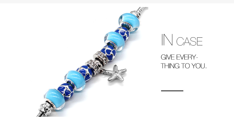f2256eec9 SANYU 2018 New Fashionable Original Elegant Temperament Fit Pandora  Bracelet Blue Glaze Beads Women's Bracelet Christmas BR-1599