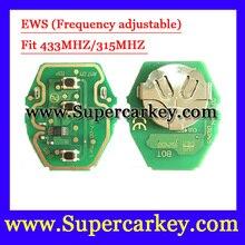 Бесплатная доставка (5 шт.) EWS Дистанционного Ключа Плате 315 МГц или 433 МГц регулируемый 2-в-1 Для BW/lot