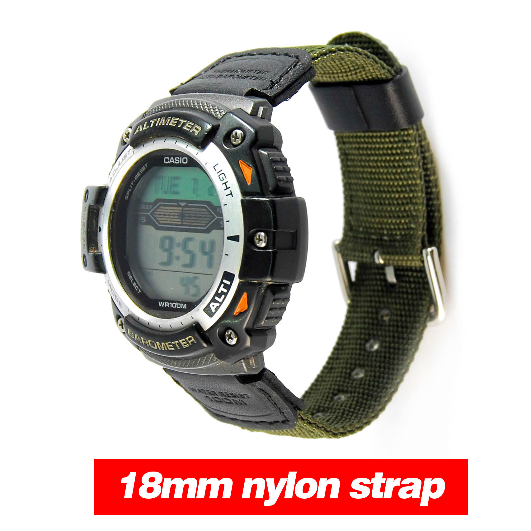 Replacement Wristband Strap For  Digital Watch AQ-S810W SGW-300H SGW-400H Nylon + Leather  Waterproof Watchbands