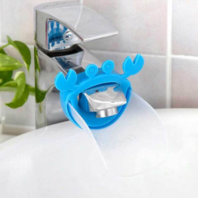 2018 New Cute Faucet Extender Toddlers Kids Babies Sink Handle Extenders for Home Bathroom Accessory Supply 4