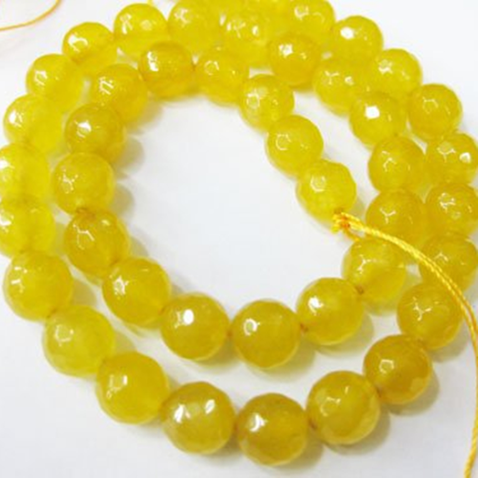 Fashion 6mm 8mm 10mm yellow carnelian natural stone semi-precious faceted round loose beads jewelry making 15inch GS415-2