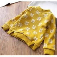 Baby Meisje Warme Lange Mouwen Sweater Kids T-Shirts Kinderkleding Cartoon Uil Dikke Sweatshirts Voor 3 T-7 T Kids