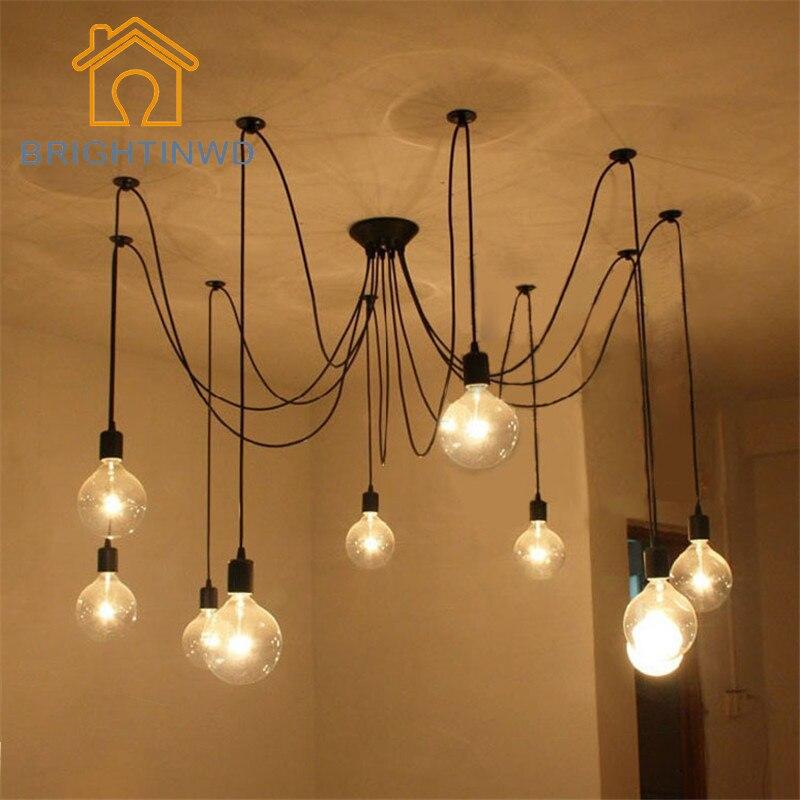 pendant lighting edison bulb. diy pendant lights modern nordic e27 retro hanging lamps edison bulb fixtures spider ceiling lamp fixture lighting
