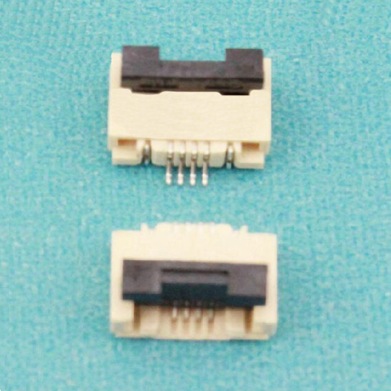100pcslot 0.5mm-4P Down Clamshell Connector FFC FPC 0.5mm Pitch Four Pinway Flexible Flat Cable Connector