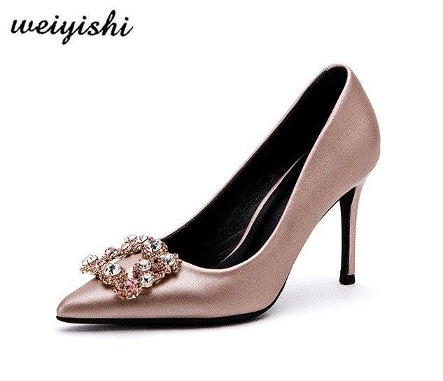 2018 المرأة الجديدة الأزياء والأحذية. سيدة أحذية ، weiyishi ماركة 005-في أحذية نسائية من أحذية على  مجموعة 1