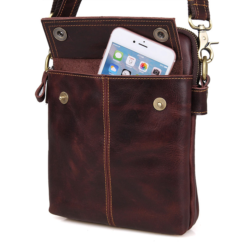 Famous Brand Genuine Cow Leather Brown Fashion Business Shoulder Bag Messenger Bag Men 39 s Crossbody Bag Portable Bag 1002X