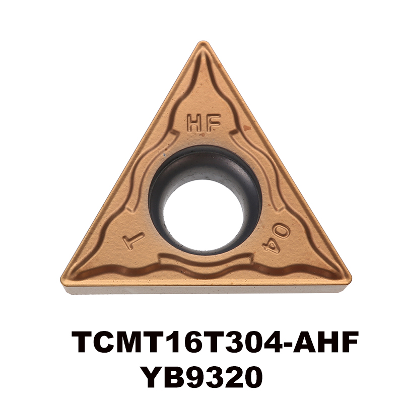 Forgácsolószerszámok TCMT16T304-AHF YB9320 volfrám-keményfém esztergálóbetét rozsdamentes acél félkész és befejező TCMT16T304