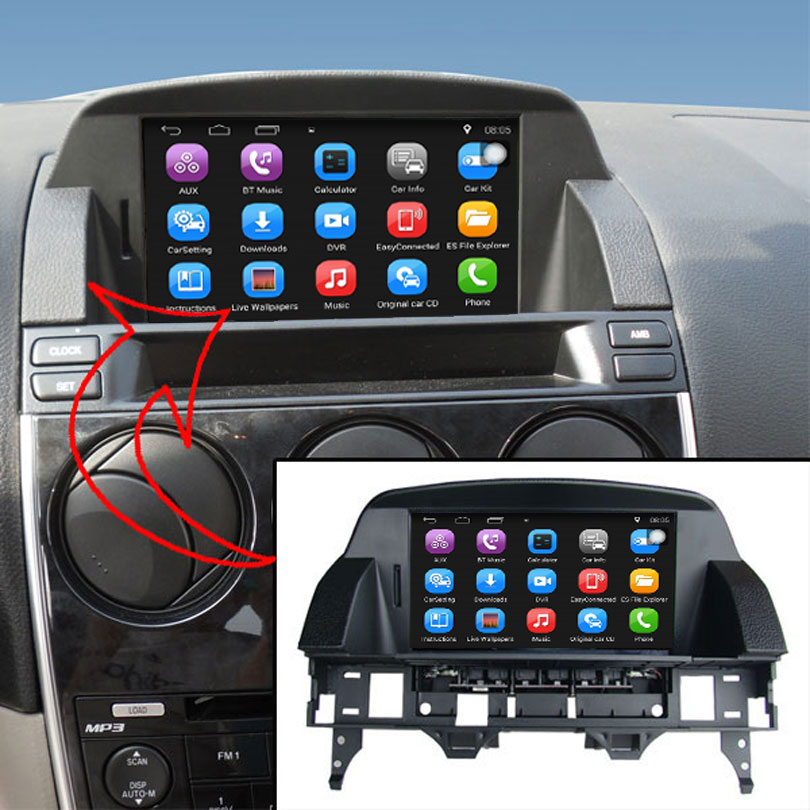 8 Inch Capacitance Touch Screen Car Gps For Mazda 6 Android System Rhaliexpress: Bluetooth Radio For Mazda 6 2005 At Gmaili.net