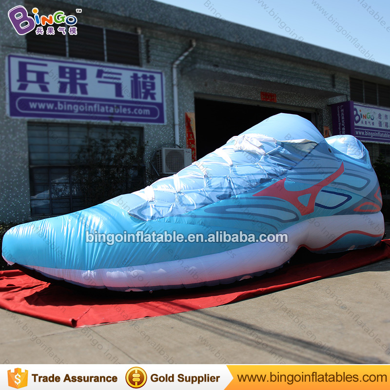 EXQUISITE CRAFT 8M inflatable huge sneaker blue sport shoes model boost balloon custom made for advertising in shoe shop