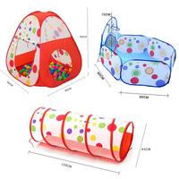 JIMITU Portable Foldable Kids Play Tents For Children Indoor Outdoor Playhouse Ocean Ball Pit Pool Tunnel Pop Up Play Tent Toys