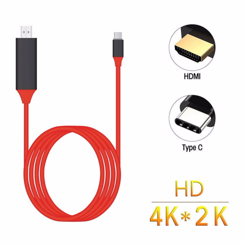 Type C to HDMI Cable USB 3 1 to HDMI 2m 4K High Speed Cable Adapter