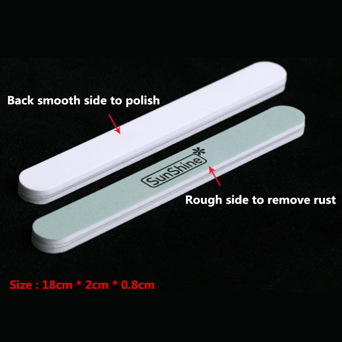 Supply 10 pcs/pack Silver Cleaner Bar Silver Jewelry Rust Cleaner & Polish 2 Sides AAA Craft Jewelry Tools 18cm*2cm*0.8cm