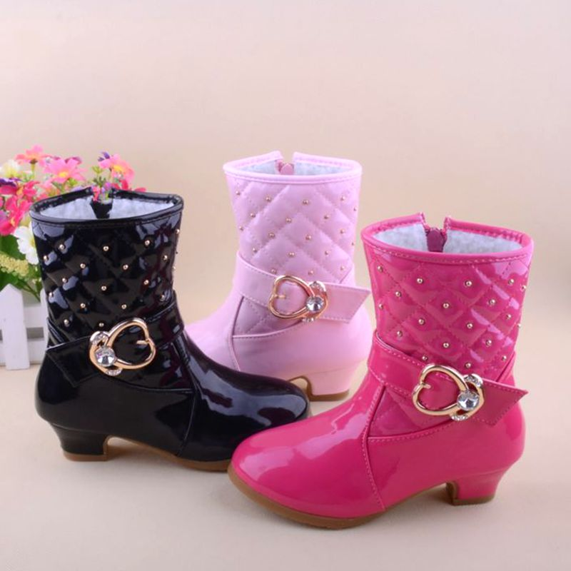 Aliexpress.com : Buy Child girls high heeled boots shoes kids baby ...